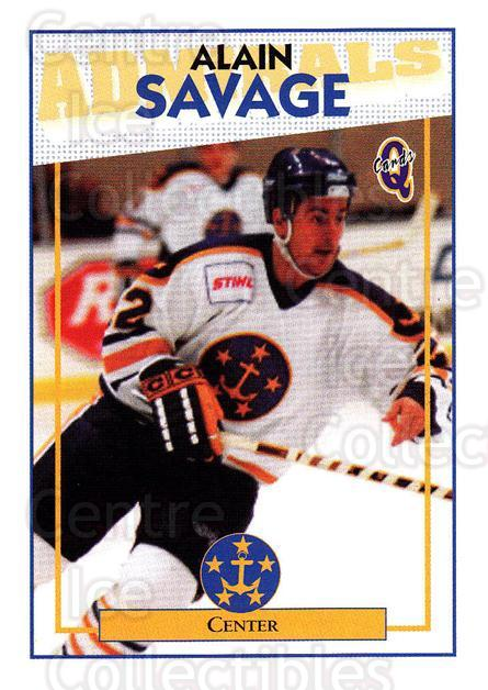 1996-97 Hampton Roads Admirals #12 Alain Savage<br/>3 In Stock - $3.00 each - <a href=https://centericecollectibles.foxycart.com/cart?name=1996-97%20Hampton%20Roads%20Admirals%20%2312%20Alain%20Savage...&quantity_max=3&price=$3.00&code=49114 class=foxycart> Buy it now! </a>