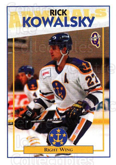 1996-97 Hampton Roads Admirals #16 Rick Kowalsky<br/>2 In Stock - $3.00 each - <a href=https://centericecollectibles.foxycart.com/cart?name=1996-97%20Hampton%20Roads%20Admirals%20%2316%20Rick%20Kowalsky...&quantity_max=2&price=$3.00&code=49117 class=foxycart> Buy it now! </a>