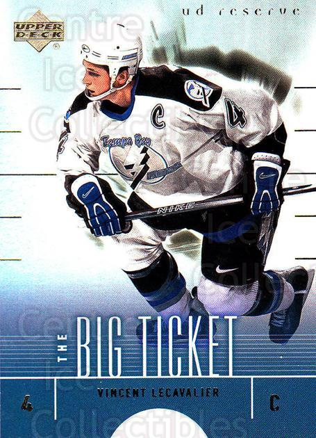 2000-01 UD Reserve The Big Ticket #10 Vincent Lecavalier<br/>2 In Stock - $2.00 each - <a href=https://centericecollectibles.foxycart.com/cart?name=2000-01%20UD%20Reserve%20The%20Big%20Ticket%20%2310%20Vincent%20Lecaval...&quantity_max=2&price=$2.00&code=491387 class=foxycart> Buy it now! </a>