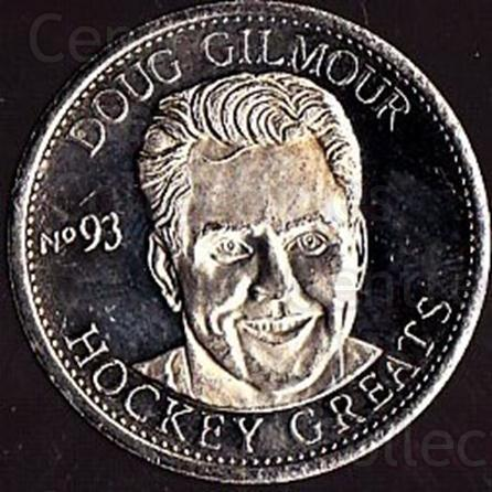 1996-97 Hockey Greats Coins #8 Doug Gilmour<br/>2 In Stock - $3.00 each - <a href=https://centericecollectibles.foxycart.com/cart?name=1996-97%20Hockey%20Greats%20Coins%20%238%20Doug%20Gilmour...&quantity_max=2&price=$3.00&code=49148 class=foxycart> Buy it now! </a>