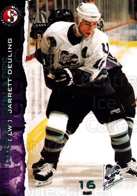 1996-97 Kentucky Thoroughblades #5 Jarrett Deuling<br/>3 In Stock - $3.00 each - <a href=https://centericecollectibles.foxycart.com/cart?name=1996-97%20Kentucky%20Thoroughblades%20%235%20Jarrett%20Deuling...&quantity_max=3&price=$3.00&code=49161 class=foxycart> Buy it now! </a>