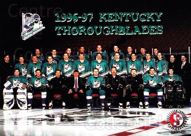 1996-97 Kentucky Thoroughblades #24 Kentucky Thoroughblades, Team Photo<br/>2 In Stock - $2.00 each - <a href=https://centericecollectibles.foxycart.com/cart?name=1996-97%20Kentucky%20Thoroughblades%20%2324%20Kentucky%20Thorou...&price=$2.00&code=49169 class=foxycart> Buy it now! </a>