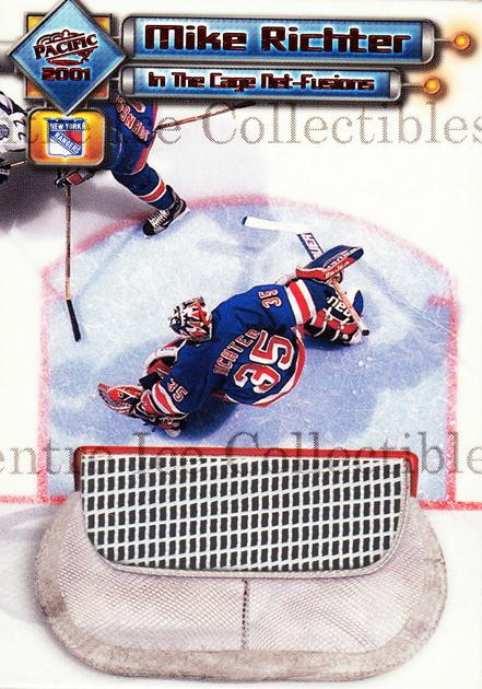 2000-01 Pacific In the Cage Net-Fusions #8 Mike Richter<br/>1 In Stock - $5.00 each - <a href=https://centericecollectibles.foxycart.com/cart?name=2000-01%20Pacific%20In%20the%20Cage%20Net-Fusions%20%238%20Mike%20Richter...&quantity_max=1&price=$5.00&code=491867 class=foxycart> Buy it now! </a>
