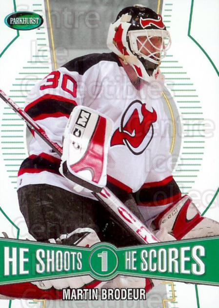 2002-03 Parkhurst Points #1 Martin Brodeur<br/>1 In Stock - $2.00 each - <a href=https://centericecollectibles.foxycart.com/cart?name=2002-03%20Parkhurst%20Points%20%231%20Martin%20Brodeur...&price=$2.00&code=491890 class=foxycart> Buy it now! </a>