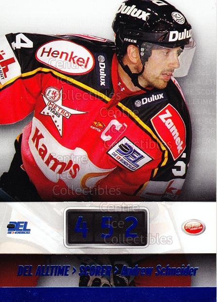 2008-09 German DEL Alltime Scorers #8 Andrew Schneider<br/>1 In Stock - $3.00 each - <a href=https://centericecollectibles.foxycart.com/cart?name=2008-09%20German%20DEL%20Alltime%20Scorers%20%238%20Andrew%20Schneide...&quantity_max=1&price=$3.00&code=492084 class=foxycart> Buy it now! </a>