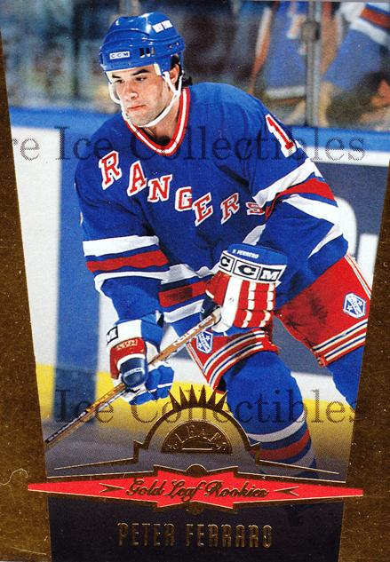 1996-97 Leaf Gold Rookies #4 Peter Ferraro<br/>9 In Stock - $2.00 each - <a href=https://centericecollectibles.foxycart.com/cart?name=1996-97%20Leaf%20Gold%20Rookies%20%234%20Peter%20Ferraro...&price=$2.00&code=49252 class=foxycart> Buy it now! </a>