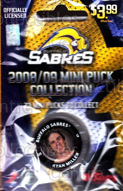 2008-09 Buffalo Sabres Mini Pucks #11 Ryan Miller<br/>3 In Stock - $5.00 each - <a href=https://centericecollectibles.foxycart.com/cart?name=2008-09%20Buffalo%20Sabres%20Mini%20Pucks%20%2311%20Ryan%20Miller...&quantity_max=3&price=$5.00&code=492898 class=foxycart> Buy it now! </a>