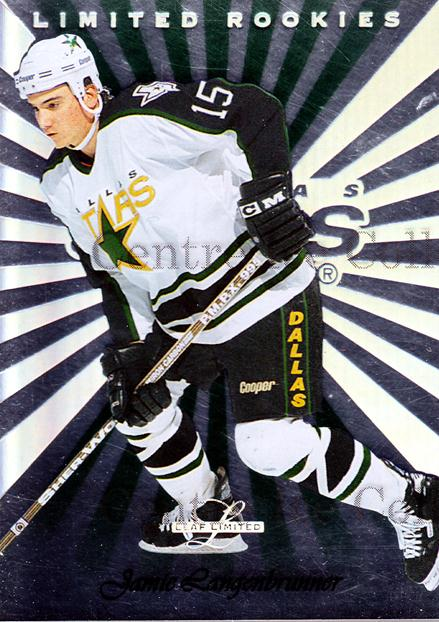 1996-97 Leaf Limited Rookies #8 Jamie Langenbrunner<br/>4 In Stock - $3.00 each - <a href=https://centericecollectibles.foxycart.com/cart?name=1996-97%20Leaf%20Limited%20Rookies%20%238%20Jamie%20Langenbru...&quantity_max=4&price=$3.00&code=49291 class=foxycart> Buy it now! </a>