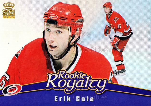 2001-02 Crown Royale Rookie Royalty #3 Erik Cole<br/>5 In Stock - $2.00 each - <a href=https://centericecollectibles.foxycart.com/cart?name=2001-02%20Crown%20Royale%20Rookie%20Royalty%20%233%20Erik%20Cole...&quantity_max=5&price=$2.00&code=493088 class=foxycart> Buy it now! </a>