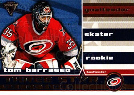 2001-02 Titanium Three-Star Selections #2 Tom Barrasso<br/>1 In Stock - $2.00 each - <a href=https://centericecollectibles.foxycart.com/cart?name=2001-02%20Titanium%20Three-Star%20Selections%20%232%20Tom%20Barrasso...&price=$2.00&code=493199 class=foxycart> Buy it now! </a>