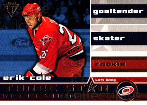 2001-02 Titanium Three-Star Selections #23 Erik Cole<br/>1 In Stock - $2.00 each - <a href=https://centericecollectibles.foxycart.com/cart?name=2001-02%20Titanium%20Three-Star%20Selections%20%2323%20Erik%20Cole...&quantity_max=1&price=$2.00&code=493220 class=foxycart> Buy it now! </a>