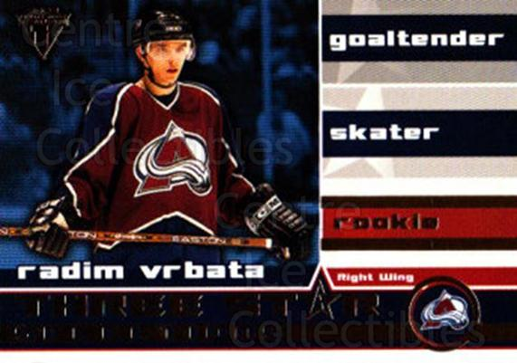 2001-02 Titanium Three-Star Selections #25 Radim Vrbata<br/>2 In Stock - $2.00 each - <a href=https://centericecollectibles.foxycart.com/cart?name=2001-02%20Titanium%20Three-Star%20Selections%20%2325%20Radim%20Vrbata...&quantity_max=2&price=$2.00&code=493222 class=foxycart> Buy it now! </a>
