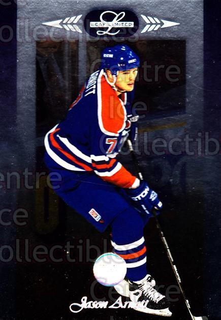 1996-97 Leaf Limited #43 Jason Arnott<br/>10 In Stock - $1.00 each - <a href=https://centericecollectibles.foxycart.com/cart?name=1996-97%20Leaf%20Limited%20%2343%20Jason%20Arnott...&quantity_max=10&price=$1.00&code=49326 class=foxycart> Buy it now! </a>