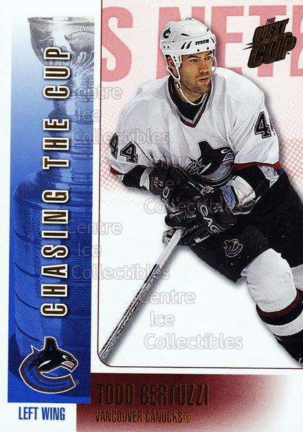 2002-03 Pacific Quest For the Cup Chasing the Cup #18 Todd Bertuzzi<br/>6 In Stock - $2.00 each - <a href=https://centericecollectibles.foxycart.com/cart?name=2002-03%20Pacific%20Quest%20For%20the%20Cup%20Chasing%20the%20Cup%20%2318%20Todd%20Bertuzzi...&quantity_max=6&price=$2.00&code=494032 class=foxycart> Buy it now! </a>