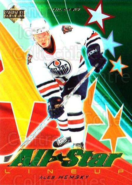 2003-04 Upper Deck AS Lineup #9 Ales Hemsky<br/>2 In Stock - $3.00 each - <a href=https://centericecollectibles.foxycart.com/cart?name=2003-04%20Upper%20Deck%20AS%20Lineup%20%239%20Ales%20Hemsky...&quantity_max=2&price=$3.00&code=494219 class=foxycart> Buy it now! </a>