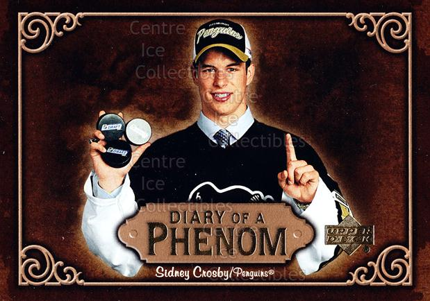 2005-06 Upper Deck Diary of a Phenom Sidney Crosby #1 Sidney Crosby<br/>16 In Stock - $3.00 each - <a href=https://centericecollectibles.foxycart.com/cart?name=2005-06%20Upper%20Deck%20Diary%20of%20a%20Phenom%20Sidney%20Crosby%20%231%20Sidney%20Crosby...&quantity_max=16&price=$3.00&code=494372 class=foxycart> Buy it now! </a>