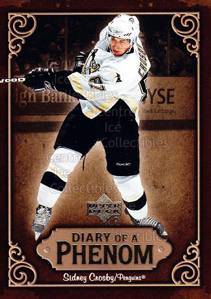 2005-06 Upper Deck Diary of a Phenom Sidney Crosby #3 Sidney Crosby<br/>10 In Stock - $3.00 each - <a href=https://centericecollectibles.foxycart.com/cart?name=2005-06%20Upper%20Deck%20Diary%20of%20a%20Phenom%20Sidney%20Crosby%20%233%20Sidney%20Crosby...&quantity_max=10&price=$3.00&code=494374 class=foxycart> Buy it now! </a>