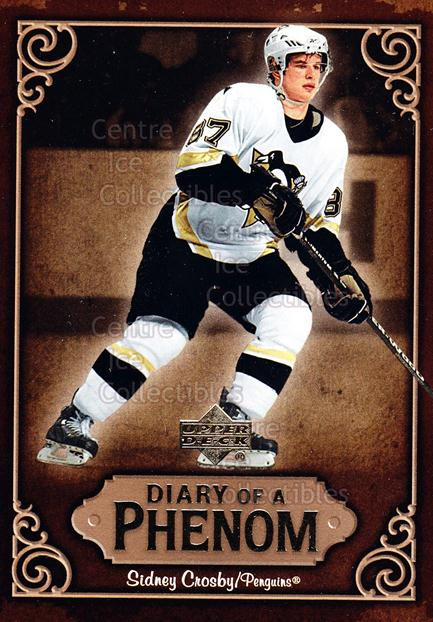 2005-06 Upper Deck Diary of a Phenom Sidney Crosby #6 Sidney Crosby<br/>10 In Stock - $3.00 each - <a href=https://centericecollectibles.foxycart.com/cart?name=2005-06%20Upper%20Deck%20Diary%20of%20a%20Phenom%20Sidney%20Crosby%20%236%20Sidney%20Crosby...&quantity_max=10&price=$3.00&code=494377 class=foxycart> Buy it now! </a>