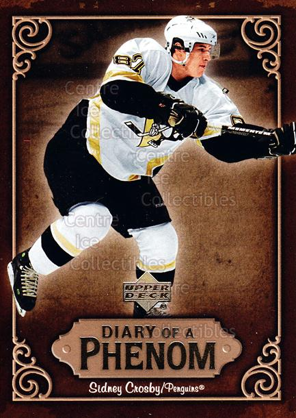 2005-06 Upper Deck Diary of a Phenom Sidney Crosby #7 Sidney Crosby<br/>18 In Stock - $3.00 each - <a href=https://centericecollectibles.foxycart.com/cart?name=2005-06%20Upper%20Deck%20Diary%20of%20a%20Phenom%20Sidney%20Crosby%20%237%20Sidney%20Crosby...&quantity_max=18&price=$3.00&code=494378 class=foxycart> Buy it now! </a>