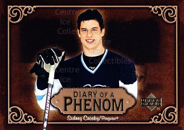 2005-06 Upper Deck Diary of a Phenom Sidney Crosby #9 Sidney Crosby<br/>17 In Stock - $3.00 each - <a href=https://centericecollectibles.foxycart.com/cart?name=2005-06%20Upper%20Deck%20Diary%20of%20a%20Phenom%20Sidney%20Crosby%20%239%20Sidney%20Crosby...&quantity_max=17&price=$3.00&code=494380 class=foxycart> Buy it now! </a>