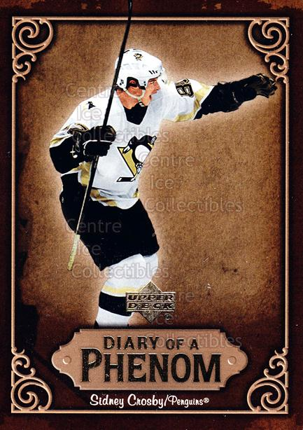 2005-06 Upper Deck Diary of a Phenom Sidney Crosby #10 Sidney Crosby<br/>13 In Stock - $3.00 each - <a href=https://centericecollectibles.foxycart.com/cart?name=2005-06%20Upper%20Deck%20Diary%20of%20a%20Phenom%20Sidney%20Crosby%20%2310%20Sidney%20Crosby...&quantity_max=13&price=$3.00&code=494381 class=foxycart> Buy it now! </a>