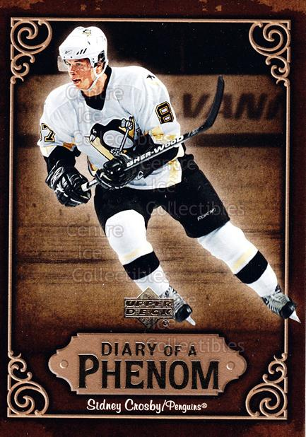 2005-06 Upper Deck Diary of a Phenom Sidney Crosby #12 Sidney Crosby<br/>17 In Stock - $3.00 each - <a href=https://centericecollectibles.foxycart.com/cart?name=2005-06%20Upper%20Deck%20Diary%20of%20a%20Phenom%20Sidney%20Crosby%20%2312%20Sidney%20Crosby...&quantity_max=17&price=$3.00&code=494383 class=foxycart> Buy it now! </a>