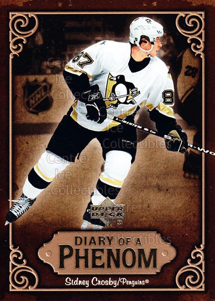2005-06 Upper Deck Diary of a Phenom Sidney Crosby #13 Sidney Crosby<br/>14 In Stock - $3.00 each - <a href=https://centericecollectibles.foxycart.com/cart?name=2005-06%20Upper%20Deck%20Diary%20of%20a%20Phenom%20Sidney%20Crosby%20%2313%20Sidney%20Crosby...&quantity_max=14&price=$3.00&code=494384 class=foxycart> Buy it now! </a>