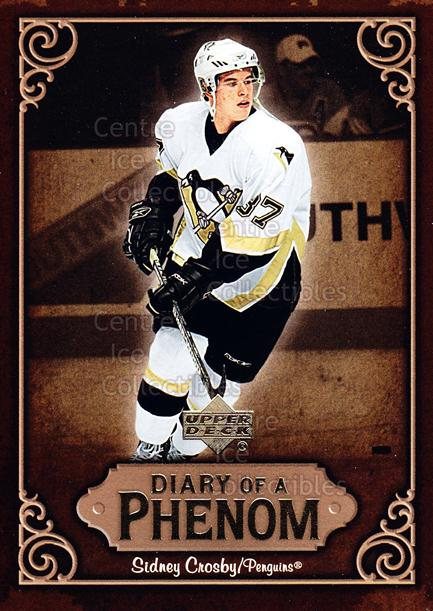 2005-06 Upper Deck Diary of a Phenom Sidney Crosby #15 Sidney Crosby<br/>13 In Stock - $3.00 each - <a href=https://centericecollectibles.foxycart.com/cart?name=2005-06%20Upper%20Deck%20Diary%20of%20a%20Phenom%20Sidney%20Crosby%20%2315%20Sidney%20Crosby...&quantity_max=13&price=$3.00&code=494386 class=foxycart> Buy it now! </a>