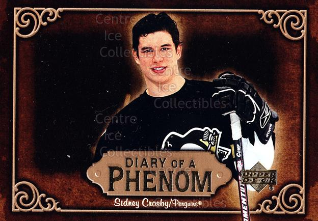 2005-06 Upper Deck Diary of a Phenom Sidney Crosby #18 Sidney Crosby<br/>15 In Stock - $3.00 each - <a href=https://centericecollectibles.foxycart.com/cart?name=2005-06%20Upper%20Deck%20Diary%20of%20a%20Phenom%20Sidney%20Crosby%20%2318%20Sidney%20Crosby...&quantity_max=15&price=$3.00&code=494389 class=foxycart> Buy it now! </a>