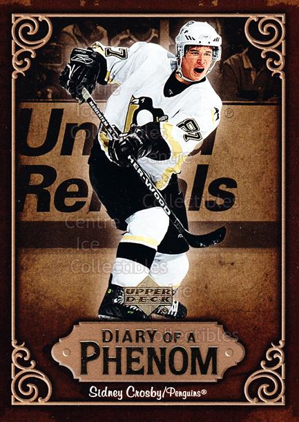 2005-06 Upper Deck Diary of a Phenom Sidney Crosby #20 Sidney Crosby<br/>14 In Stock - $3.00 each - <a href=https://centericecollectibles.foxycart.com/cart?name=2005-06%20Upper%20Deck%20Diary%20of%20a%20Phenom%20Sidney%20Crosby%20%2320%20Sidney%20Crosby...&quantity_max=14&price=$3.00&code=494391 class=foxycart> Buy it now! </a>