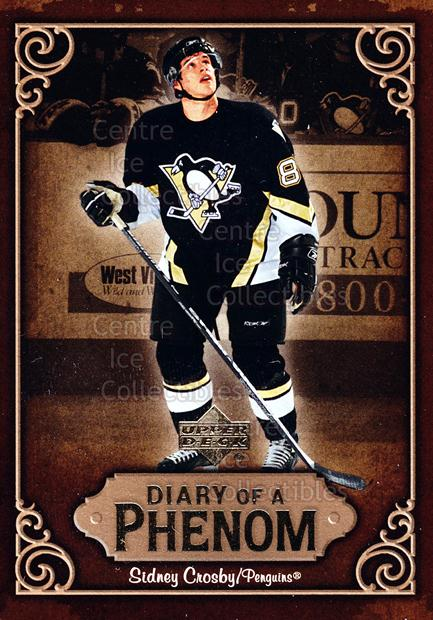 2005-06 Upper Deck Diary of a Phenom Sidney Crosby #22 Sidney Crosby<br/>15 In Stock - $3.00 each - <a href=https://centericecollectibles.foxycart.com/cart?name=2005-06%20Upper%20Deck%20Diary%20of%20a%20Phenom%20Sidney%20Crosby%20%2322%20Sidney%20Crosby...&quantity_max=15&price=$3.00&code=494393 class=foxycart> Buy it now! </a>