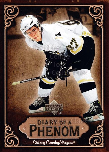 2005-06 Upper Deck Diary of a Phenom Sidney Crosby #23 Sidney Crosby<br/>14 In Stock - $3.00 each - <a href=https://centericecollectibles.foxycart.com/cart?name=2005-06%20Upper%20Deck%20Diary%20of%20a%20Phenom%20Sidney%20Crosby%20%2323%20Sidney%20Crosby...&quantity_max=14&price=$3.00&code=494394 class=foxycart> Buy it now! </a>