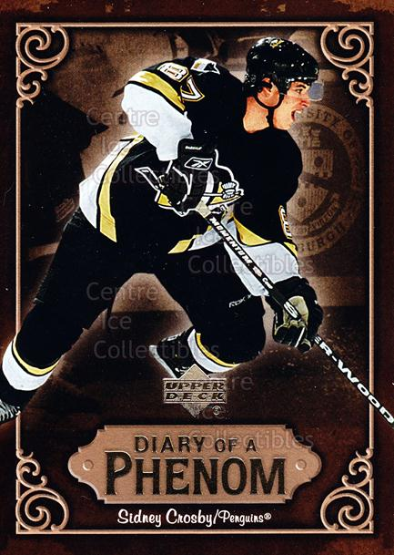 2005-06 Upper Deck Diary of a Phenom Sidney Crosby #25 Sidney Crosby<br/>9 In Stock - $3.00 each - <a href=https://centericecollectibles.foxycart.com/cart?name=2005-06%20Upper%20Deck%20Diary%20of%20a%20Phenom%20Sidney%20Crosby%20%2325%20Sidney%20Crosby...&quantity_max=9&price=$3.00&code=494396 class=foxycart> Buy it now! </a>