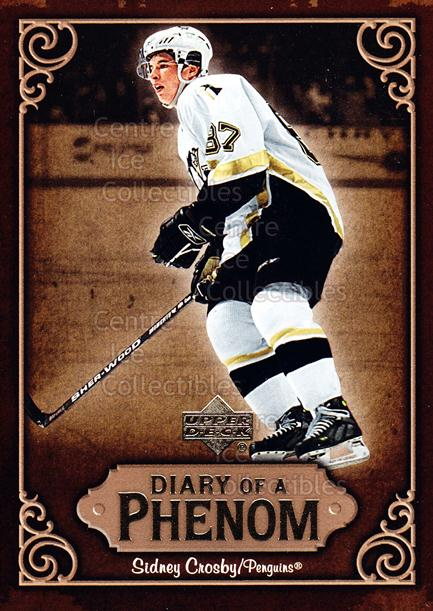 2005-06 Upper Deck Diary of a Phenom Sidney Crosby #27 Sidney Crosby<br/>12 In Stock - $3.00 each - <a href=https://centericecollectibles.foxycart.com/cart?name=2005-06%20Upper%20Deck%20Diary%20of%20a%20Phenom%20Sidney%20Crosby%20%2327%20Sidney%20Crosby...&quantity_max=12&price=$3.00&code=494398 class=foxycart> Buy it now! </a>