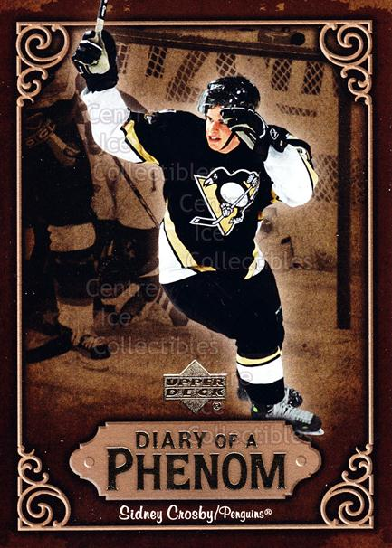 2005-06 Upper Deck Diary of a Phenom Sidney Crosby #29 Sidney Crosby<br/>11 In Stock - $3.00 each - <a href=https://centericecollectibles.foxycart.com/cart?name=2005-06%20Upper%20Deck%20Diary%20of%20a%20Phenom%20Sidney%20Crosby%20%2329%20Sidney%20Crosby...&quantity_max=11&price=$3.00&code=494400 class=foxycart> Buy it now! </a>