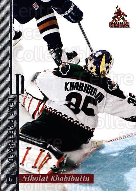 1996-97 Leaf Preferred #10 Nikolai Khabibulin<br/>3 In Stock - $1.00 each - <a href=https://centericecollectibles.foxycart.com/cart?name=1996-97%20Leaf%20Preferred%20%2310%20Nikolai%20Khabibu...&quantity_max=3&price=$1.00&code=49463 class=foxycart> Buy it now! </a>