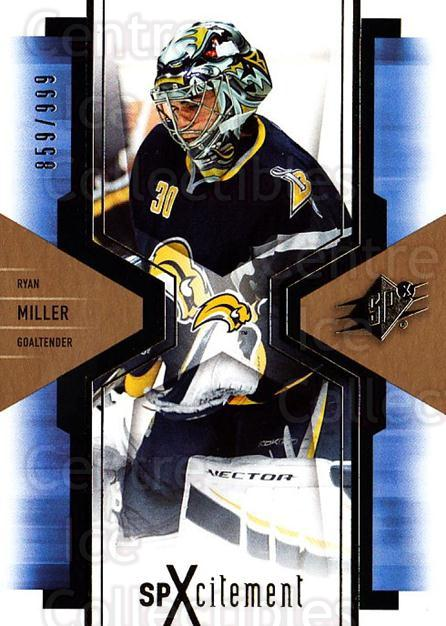 2006-07 SPx SPxcitement #12 Ryan Miller<br/>3 In Stock - $3.00 each - <a href=https://centericecollectibles.foxycart.com/cart?name=2006-07%20SPx%20SPxcitement%20%2312%20Ryan%20Miller...&quantity_max=3&price=$3.00&code=494734 class=foxycart> Buy it now! </a>