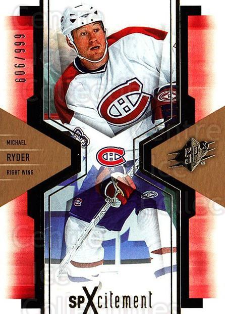 2006-07 SPx SPxcitement #57 Michael Ryder<br/>2 In Stock - $3.00 each - <a href=https://centericecollectibles.foxycart.com/cart?name=2006-07%20SPx%20SPxcitement%20%2357%20Michael%20Ryder...&quantity_max=2&price=$3.00&code=494753 class=foxycart> Buy it now! </a>