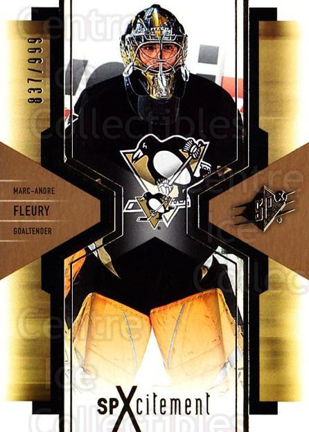 2006-07 SPx SPxcitement #81 Marc-Andre Fleury<br/>4 In Stock - $3.00 each - <a href=https://centericecollectibles.foxycart.com/cart?name=2006-07%20SPx%20SPxcitement%20%2381%20Marc-Andre%20Fleu...&quantity_max=4&price=$3.00&code=494764 class=foxycart> Buy it now! </a>