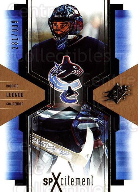 2006-07 SPx SPxcitement #97 Roberto Luongo<br/>1 In Stock - $3.00 each - <a href=https://centericecollectibles.foxycart.com/cart?name=2006-07%20SPx%20SPxcitement%20%2397%20Roberto%20Luongo...&quantity_max=1&price=$3.00&code=494770 class=foxycart> Buy it now! </a>