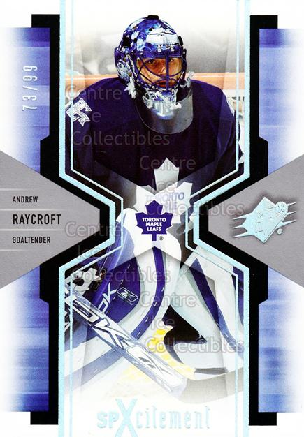 2006-07 SPx SPxcitement Spectrum #94 Andrew Raycroft<br/>1 In Stock - $5.00 each - <a href=https://centericecollectibles.foxycart.com/cart?name=2006-07%20SPx%20SPxcitement%20Spectrum%20%2394%20Andrew%20Raycroft...&quantity_max=1&price=$5.00&code=494800 class=foxycart> Buy it now! </a>