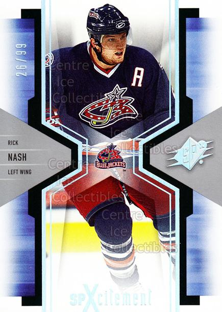 2006-07 SPx SPxcitement Spectrum #26 Rick Nash<br/>1 In Stock - $5.00 each - <a href=https://centericecollectibles.foxycart.com/cart?name=2006-07%20SPx%20SPxcitement%20Spectrum%20%2326%20Rick%20Nash...&quantity_max=1&price=$5.00&code=494814 class=foxycart> Buy it now! </a>