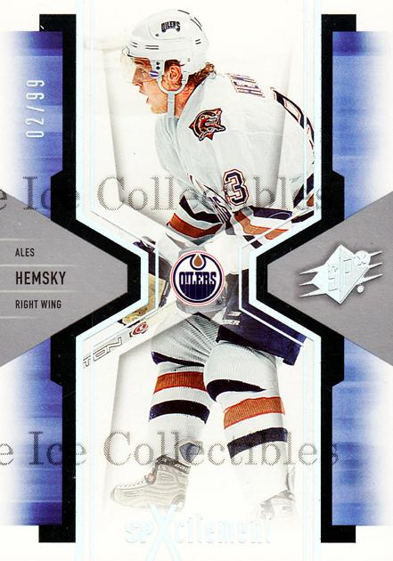 2006-07 SPx SPxcitement Spectrum #40 Ales Hemsky<br/>2 In Stock - $5.00 each - <a href=https://centericecollectibles.foxycart.com/cart?name=2006-07%20SPx%20SPxcitement%20Spectrum%20%2340%20Ales%20Hemsky...&quantity_max=2&price=$5.00&code=494822 class=foxycart> Buy it now! </a>
