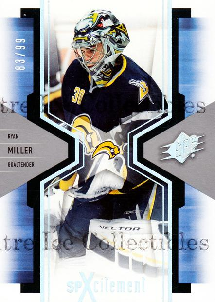 2006-07 SPx SPxcitement Spectrum #12 Ryan Miller<br/>1 In Stock - $5.00 each - <a href=https://centericecollectibles.foxycart.com/cart?name=2006-07%20SPx%20SPxcitement%20Spectrum%20%2312%20Ryan%20Miller...&quantity_max=1&price=$5.00&code=494834 class=foxycart> Buy it now! </a>