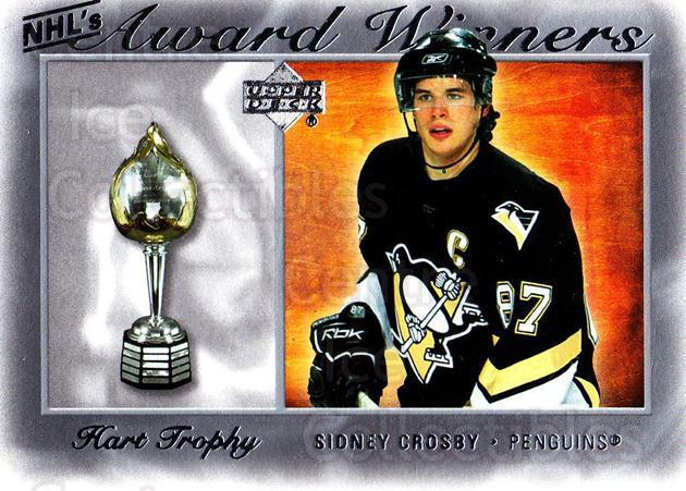 2007-08 Upper Deck NHL Award Winners #1 Sidney Crosby<br/>3 In Stock - $5.00 each - <a href=https://centericecollectibles.foxycart.com/cart?name=2007-08%20Upper%20Deck%20NHL%20Award%20Winners%20%231%20Sidney%20Crosby...&quantity_max=3&price=$5.00&code=494880 class=foxycart> Buy it now! </a>