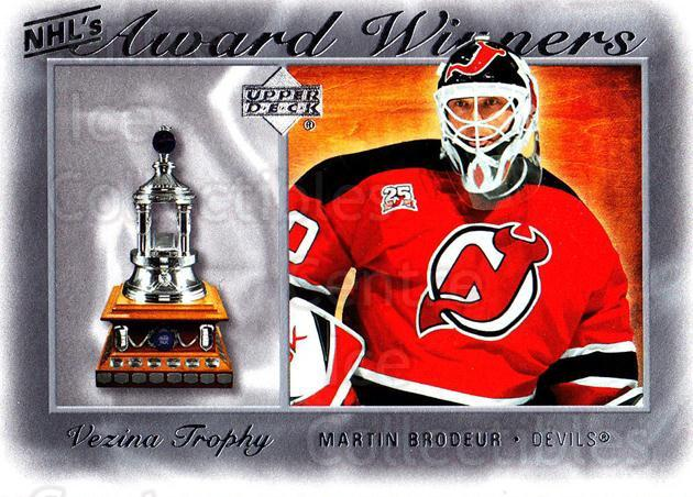 2007-08 Upper Deck NHL Award Winners #2 Martin Brodeur<br/>1 In Stock - $2.00 each - <a href=https://centericecollectibles.foxycart.com/cart?name=2007-08%20Upper%20Deck%20NHL%20Award%20Winners%20%232%20Martin%20Brodeur...&price=$2.00&code=494881 class=foxycart> Buy it now! </a>