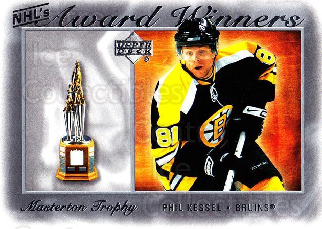 2007-08 Upper Deck NHL Award Winners #7 Phil Kessel<br/>6 In Stock - $2.00 each - <a href=https://centericecollectibles.foxycart.com/cart?name=2007-08%20Upper%20Deck%20NHL%20Award%20Winners%20%237%20Phil%20Kessel...&quantity_max=6&price=$2.00&code=494886 class=foxycart> Buy it now! </a>
