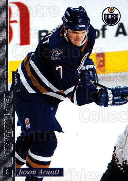 1996-97 Leaf Preferred #20 Jason Arnott<br/>4 In Stock - $1.00 each - <a href=https://centericecollectibles.foxycart.com/cart?name=1996-97%20Leaf%20Preferred%20%2320%20Jason%20Arnott...&quantity_max=4&price=$1.00&code=49520 class=foxycart> Buy it now! </a>