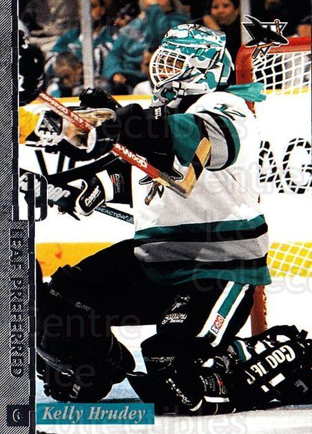 1996-97 Leaf Preferred #39 Kelly Hrudey<br/>3 In Stock - $1.00 each - <a href=https://centericecollectibles.foxycart.com/cart?name=1996-97%20Leaf%20Preferred%20%2339%20Kelly%20Hrudey...&quantity_max=3&price=$1.00&code=49539 class=foxycart> Buy it now! </a>