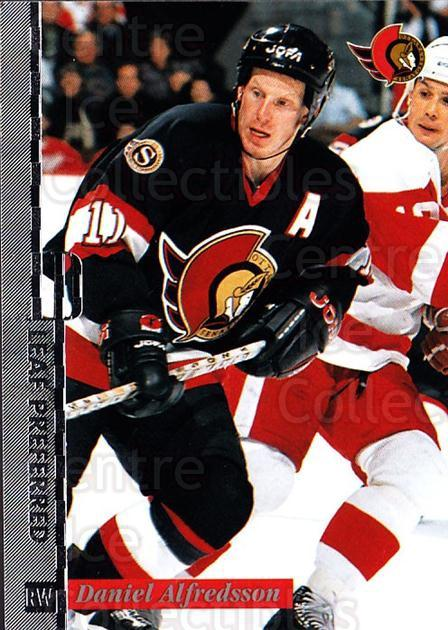 1996-97 Leaf Preferred #48 Daniel Alfredsson<br/>4 In Stock - $1.00 each - <a href=https://centericecollectibles.foxycart.com/cart?name=1996-97%20Leaf%20Preferred%20%2348%20Daniel%20Alfredss...&quantity_max=4&price=$1.00&code=49549 class=foxycart> Buy it now! </a>